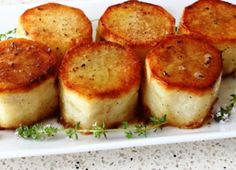 Learn how to make a Fondant Potatoes - Crusty Potatoes Roasted with Butter and Stock