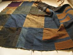 """1930's modernist crazy quilt close-up 3 __ taken from """"warymeyers blog"""" flickr photostream"""