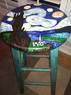 Van Goghu0027s   Starry Night  painted ... & STARRY NIGHT CHAIR | Fun Furniture | Pinterest | Van gogh Vans and ...