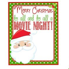 Christmas Labels, Merry Christmas To All, Christmas Movies, Movie Popcorn, All Movies, Character, Merry Christmas To Everyone, Noel, Lettering