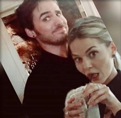 Colin and Jen goofing around...