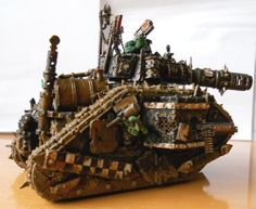 Conversion, Gretchin, Grots, Leman Russ, Looted Wagon, Orks, Warhammer 40,000