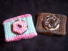Resusable Coffee Cozy with Donuts