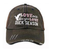Love Me Like You Love Duck Season Mesh Trucker Baseball Cap Hat
