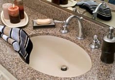 Corian countertops... cheaper but not horrible option if you're on a tight budget