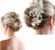 Schicke Brautfrisuren – finden Sie Ihren persönlichen Hairstyle! - schicke brautfrisuren natürlich mit orchideen
