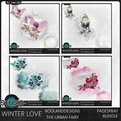 March 14: Winter Love Page Spray Bundle  #theStudio #digiscrap #DOTD
