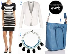 How to wear the monochrome trend - work - spring/summer Simple Wardrobe, Workwear Fashion, Capsule Wardrobe, Work Wear, Monochrome, Going Out, Spring Summer, Long Hair Styles, Black And White