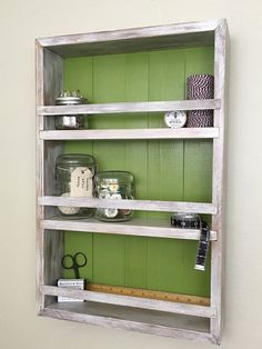 Customize your color to match any decor. Fits mason jars, spices, or any odds n' ends you want to show off.