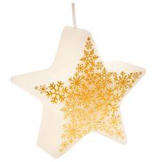 Sviečka Snehová vločka Ivoire, Christmas Ornaments, Holiday Decor, Christmas Tabletop, Flakes, Candle, Noel, Color, Christmas Jewelry