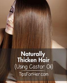 Regrow & Strengthen Hair Using Castor Oil