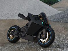 Futuristic Electric Bike