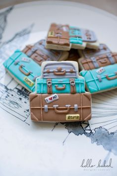 Luggage Cookies - hello baked
