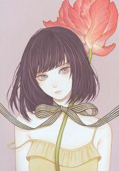 如何让我遇见你,在你最美丽的时候 ~ Mayumi Konno少女系列插画