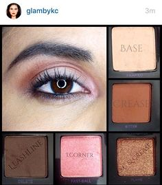 Pink and brown shades of the Urban Decay Vice 4 #vice4