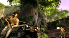 Uncharted: Drake's Fortune. PS3. Damn the game can be tedious sometimes. Gunplay is awful.