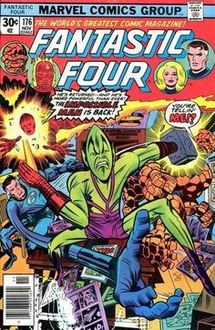 Fantastic Four #176 - Improbable As it May Seem--The Impossible Man is Back in Town!
