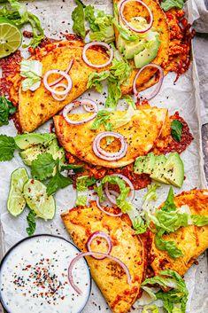 Mexican Food Recipes, New Recipes, Cooking Recipes, Favorite Recipes, Healthy Recipes, I Love Food, Good Food, Yummy Food, Enchiladas
