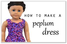 Pattern hack - Turn the LJ Peplum Top into a darling little dress! Find it at Pixie Faire.