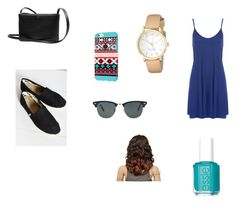 summer by kmunar on Polyvore featuring WearAll, TOMS, Kate Spade, Ray-Ban and Essie