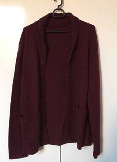 Kup mój przedmiot na #vintedpl http://www.vinted.pl/odziez-meska/zapinane-swetry-kardigany/12564009-bordowy-welniany-kardigan-hm