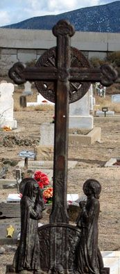 Pressed Tinwork Mexican Cross  Bernalillo, New Mexico. Cemetery where my grandparents are buried. I miss visiting