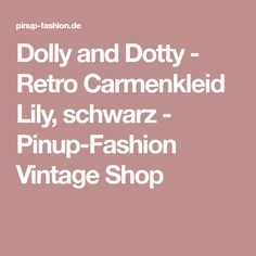 Dolly and Dotty - Retro Carmenkleid Lily, schwarz - Pinup-Fashion Vintage Shop