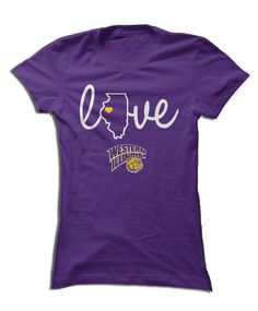 Western Illinois University - Love With State Outline
