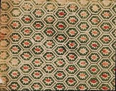 Design - Paper - Green and red hexagon