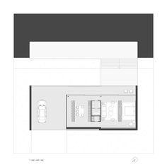 Проект дома с плоской крышей площадью около 100 м2 LONG HOUSE - загородный жилой дом для сезонного или постоянного проживания 2-х человек. Дом имеет осевую планировку c минимальным количеством дверей.
