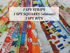 "5"" pre-cut squares of quilt store quality novelty fabrics for children's quilts and blankets. Also called EYE SPY fabric squares with images of animals and objects that youngsters will recognize and allow interaction with adults in thier lives. I Spy Books, I Spy Quilt, Children's Quilts, Scrap Material, Travel Toys, Quilt Border, Novelty Fabric, Foundation Paper Piecing, Doll Quilt"