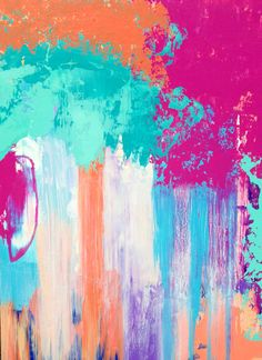 Abstract+Original+Painting+18x24+Turquoise+by+JenniferFlanniganart,+$175.00