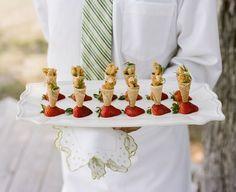 Mini Ice Cream Cones in Strawberries #camillestyles