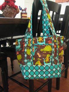Purse/Diaper Bag Free Sewing Tutorial - Diaper Bags - Ideas of Diaper Bags - Free Bag Pattern and Tutorial Purse/Diaper Bag Diaper Bag Tutorials, Diaper Bag Patterns, Purse Patterns, Sewing Patterns Free, Sewing Tutorials, Sewing Projects, Free Sewing, Sewing Men, Tutorial Sewing