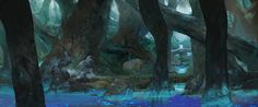 ArtStation - Animation background test 01, Jesper Friis