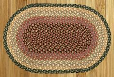 """EarthRugs C-57 Burgundy/Crème Rug Rug Size: Oval 2'3"""" x 3'9"""" by Earth Rugs. $27.76. 03-057 Rug Size: Oval 2'3"""" x 3'9"""" Features: -Technique: Braided.-Material: Jute.-Origin: Bangladesh. Construction: -Construction: Handmade. Color/Finish: -Color: Burgundy, Gray, Cr me. Dimensions: -Pile height: 0.2''.. Save 26%!"""
