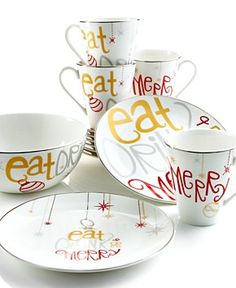 Lenox Dinnerware, Eat Drink Be Merry Collection