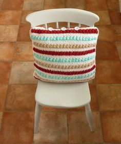 NOW £ I have designed and crocheted this large cushion cover in a lovely Scandinavian colour palette , featuring textured / bobbly stripes and using a deliciously soft Alpaca / Wool blend yarn . Large Cushion Covers, Large Cushions, Scandi Chic, Alpaca Wool, Wool Blend, Scandinavian, Handmade Items, Pretty, June