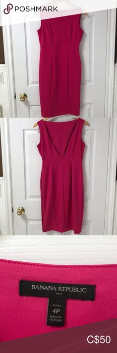 """Banana Republic hot pink cocktail dress. This dress is perfect to go from business to a night out on the town! 💃🏼 The peek-a-boo back and side zipper makes this pink dress unique. Hits just above the knee for reference (I'm 5'4""""). Fits true to size. Banana Republic Dresses Mini Pink Cocktail Dress, Plus Fashion, Fashion Tips, Fashion Trends, Banana Republic Dress, Unique Dresses, Pink Dress, Night Out, Hot Pink"""