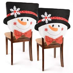 Mr. Snowman Plush Chair Covers, Set of 2 | Kirklands