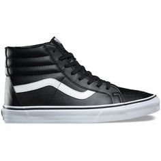 Vans Classic Tumble SK8-Hi Reissue ($70) ❤ liked on Polyvore featuring men's fashion, men's shoes, men's sneakers, shoes, black, mens rubber shoes, mens black shoes, mens black cap toe dress shoes, men's vintage shoes and mens vintage sneakers