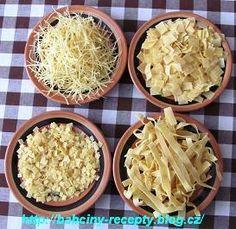 Nudlové těsto v domácí pekárně Pasta Recipes, Frozen, Food And Drink, Menu, Soup, Rice, Pizza, Treats, Homemade