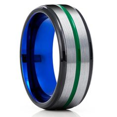 Green Tungsten Wedding Bands | Green Tungsten Wedding Rings – Page 2 – Clean Casting Jewelry Purple Wedding Rings, Blue Purple Wedding, Purple Rings, Wedding Bands, Tungsten Wedding Rings, Tungsten Carbide Rings, Engraving Fonts, Laser Engraving, Custom Engraving