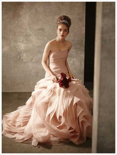 Breathtaking blush gown