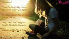 Hindi Ghazals for Facebook Status with Lonely Girls Images | Poetry