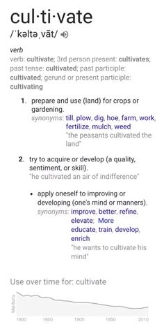 cultivate: one little word, definition