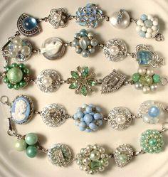 lovely vintage earring bracelets!