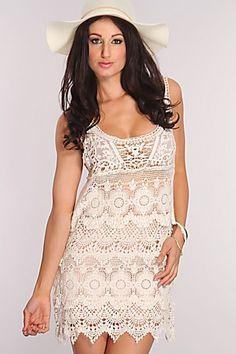 Cream Crochet Scallop Hem Dress @ Amiclubwear sexy dresses,sexy dress,prom dress,summer dress,spring dress,prom gowns,teens dresses,sexy party wear,women's cocktail dresses,ball dresses,sun dresses,trendy dresses,sweater dresses,teen clothing,evening cock