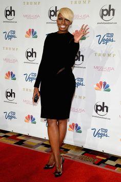 NeNe Leakes Little Black Dress - NeNe Leakes wore a long-sleeve black dress to the Miss USA Pageant in Las Vegas.