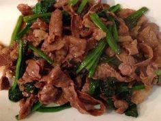 牛肉とほうれん草のオイスターソース炒め by つまみ&ダイエット [クックパッド] 簡単おいしいみんなのレシピが230万品